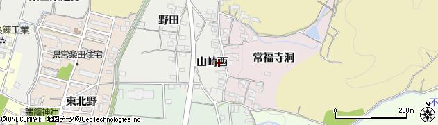 愛知県犬山市山崎西周辺の地図