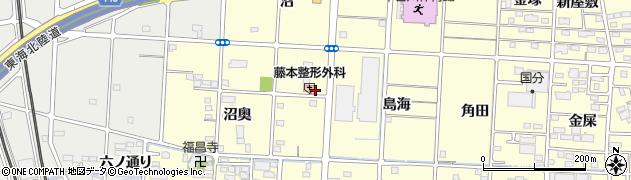 愛知県一宮市木曽川町門間(沼墓)周辺の地図