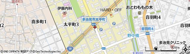 岐阜県多治見市太平町周辺の地図