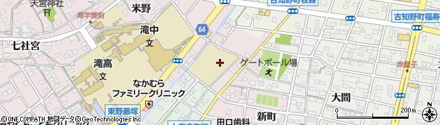 愛知県江南市大間町(新町)周辺の地図