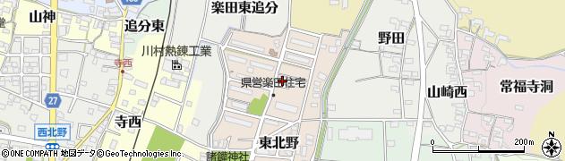 愛知県犬山市東北野周辺の地図