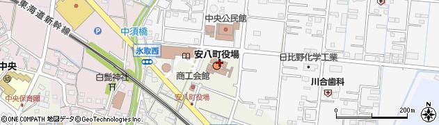 岐阜県安八郡安八町周辺の地図