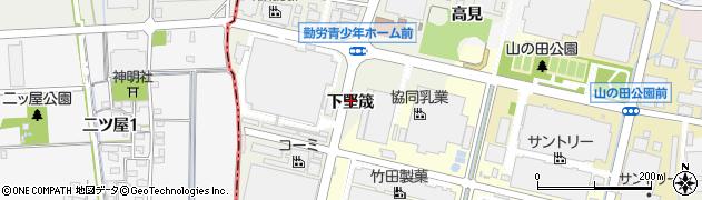 愛知県犬山市羽黒新田(下堅筬)周辺の地図