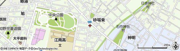 愛知県江南市宮後町(砂場東)周辺の地図