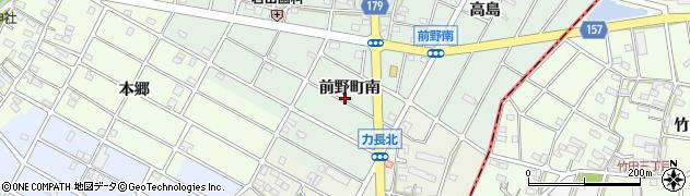 愛知県江南市前野町(南)周辺の地図
