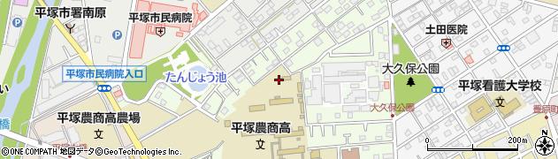 神奈川県平塚市達上ケ丘周辺の地図