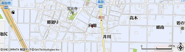 愛知県一宮市高田(向畑)周辺の地図