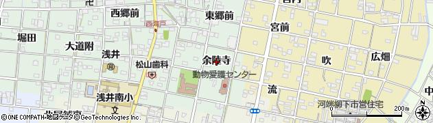 愛知県一宮市浅井町西海戸(余陸寺)周辺の地図