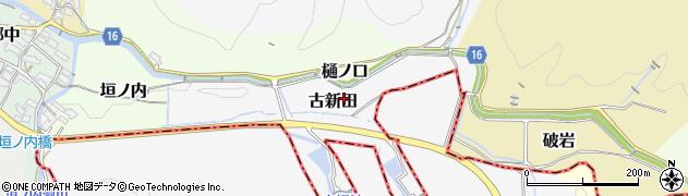 愛知県犬山市古新田周辺の地図