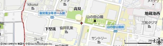 愛知県犬山市八反田周辺の地図