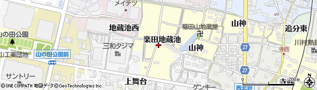 愛知県犬山市楽田地蔵池周辺の地図