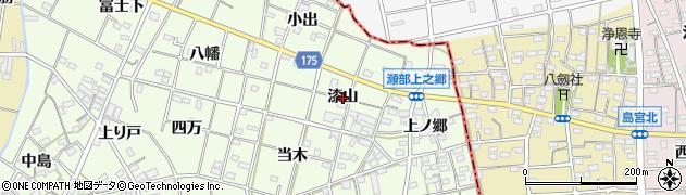 愛知県一宮市瀬部(漆山)周辺の地図