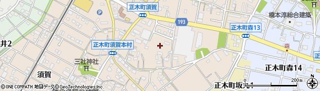 岐阜県羽島市正木町(須賀本村)周辺の地図