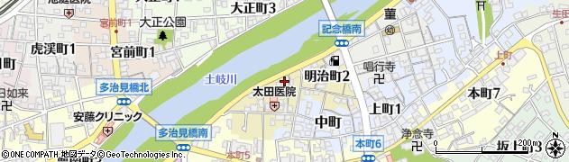 岐阜県多治見市明治町周辺の地図