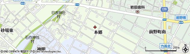 愛知県江南市山王町(本郷)周辺の地図
