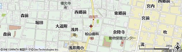 愛知県一宮市浅井町西海戸(小山)周辺の地図