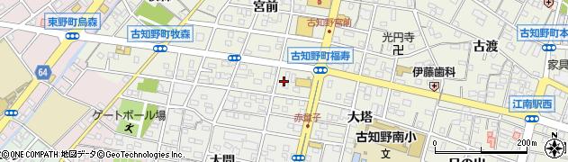 愛知県江南市古知野町(福寿)周辺の地図