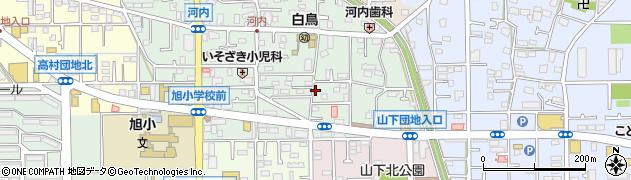 神奈川県平塚市河内周辺の地図