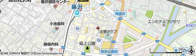 神奈川県藤沢市鵠沼石上周辺の地図