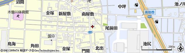 愛知県一宮市木曽川町門間(下流)周辺の地図