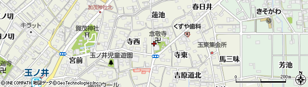 念敬寺周辺の地図