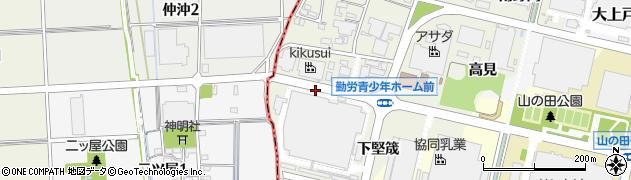 愛知県犬山市羽黒新田(不二見坂)周辺の地図