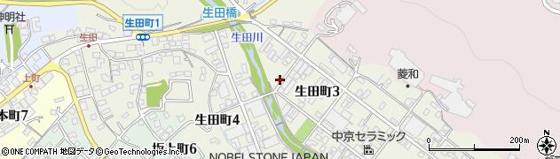 岐阜県多治見市生田町周辺の地図