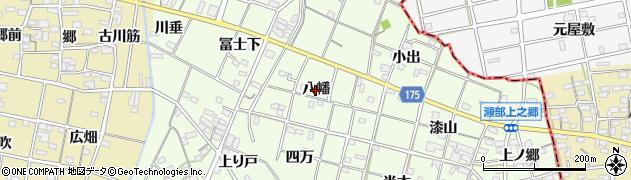 愛知県一宮市瀬部(八幡)周辺の地図