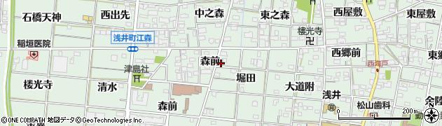愛知県一宮市浅井町江森(蛇塚)周辺の地図
