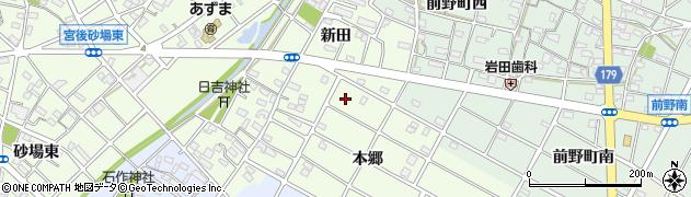 愛知県江南市山王町周辺の地図