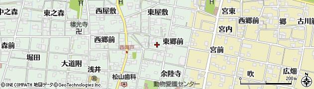 愛知県一宮市浅井町西海戸(東郷前)周辺の地図