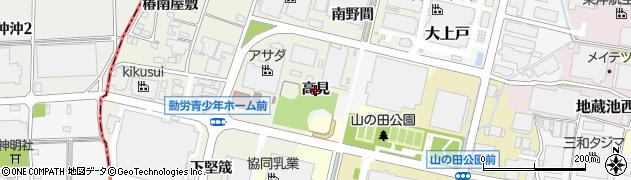 愛知県犬山市羽黒新田(高見)周辺の地図