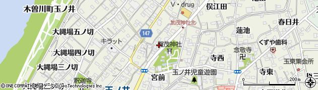 愛知県一宮市木曽川町玉ノ井周辺の地図