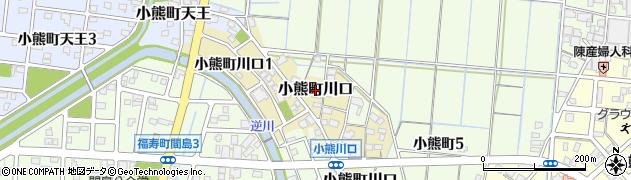 岐阜県羽島市小熊町川口周辺の地図