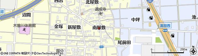 愛知県一宮市木曽川町門間(南屋敷)周辺の地図
