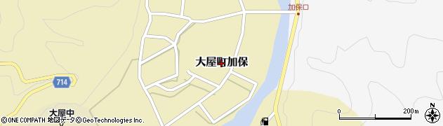 兵庫県養父市大屋町加保周辺の地図