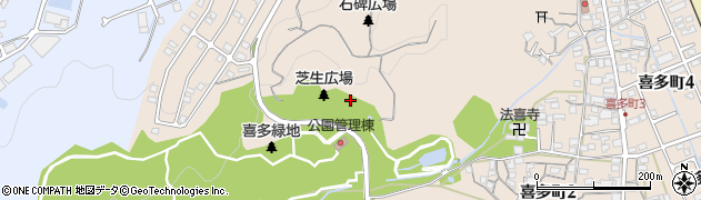 岐阜県多治見市喜多町周辺の地図