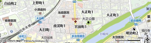 岐阜県多治見市宮前町周辺の地図