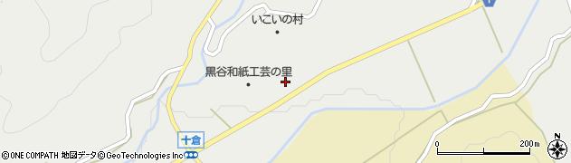 京都府綾部市十倉名畑町(三ツ辻)周辺の地図