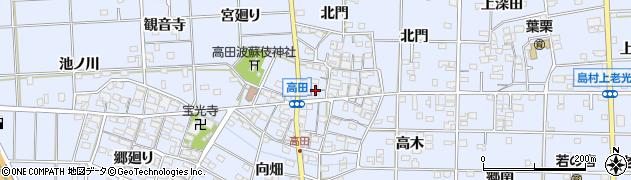 愛知県一宮市高田(南屋敷)周辺の地図
