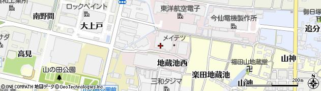 愛知県犬山市地蔵池西周辺の地図