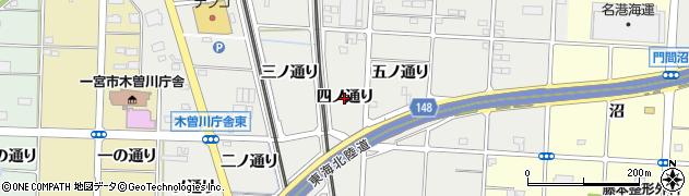 愛知県一宮市木曽川町黒田(四ノ通り)周辺の地図