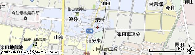 愛知県犬山市栗林周辺の地図