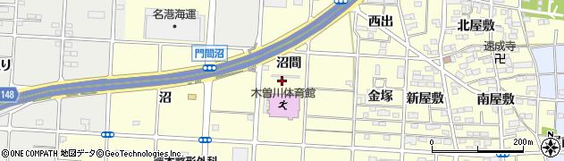 愛知県一宮市木曽川町門間(沼間)周辺の地図
