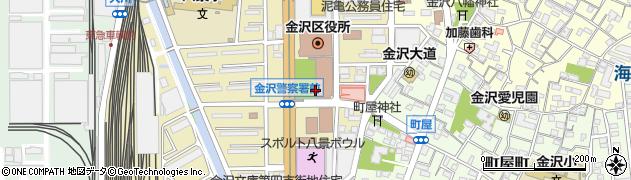 神奈川県横浜市金沢区周辺の地図