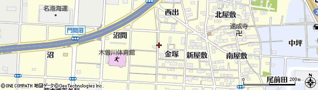 愛知県一宮市木曽川町門間周辺の地図