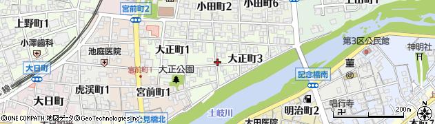 岐阜県多治見市大正町周辺の地図