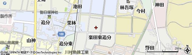愛知県犬山市楽田東追分周辺の地図