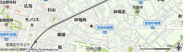 愛知県江南市宮後町(砂場西)周辺の地図