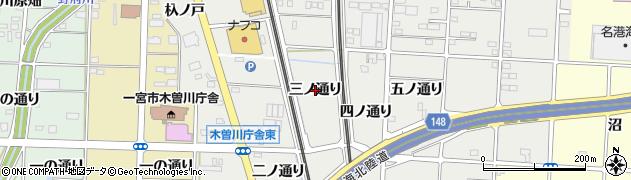 愛知県一宮市木曽川町黒田(三ノ通り)周辺の地図